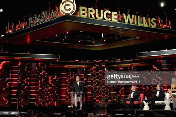 Edward Norton speaks onstage during the Comedy Central Roast of Bruce Willis at Hollywood Palladium on July 14 2018 in Los Angeles California