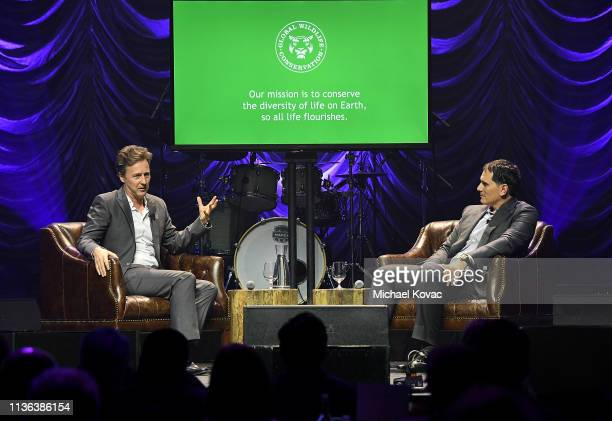 Edward Norton UN Goodwill Ambassador for Biodiversity and Brian Sheth CoFounder and President Vista Equity Partners and Board Chair Global Wildlife...