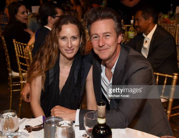 Edward Norton UN Goodwill Ambassador for Biodiversity and producer Shauna Robertson attend Global Wildlife Conservation's Wild Night For Wildlife...