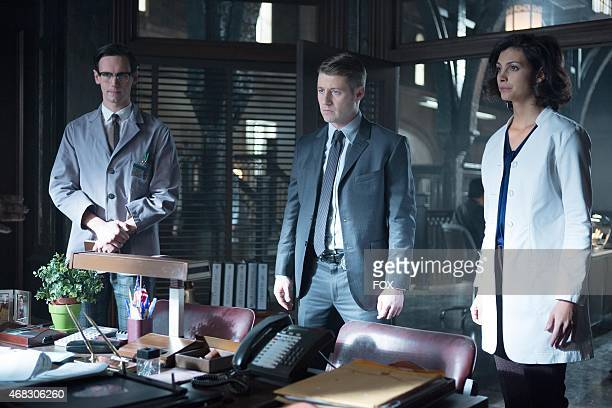 Edward Nygma Detective James Gordon and Dr Leslie Thompkins have information for Captain Essen in the The Blind Fortune Teller episode of GOTHAM...