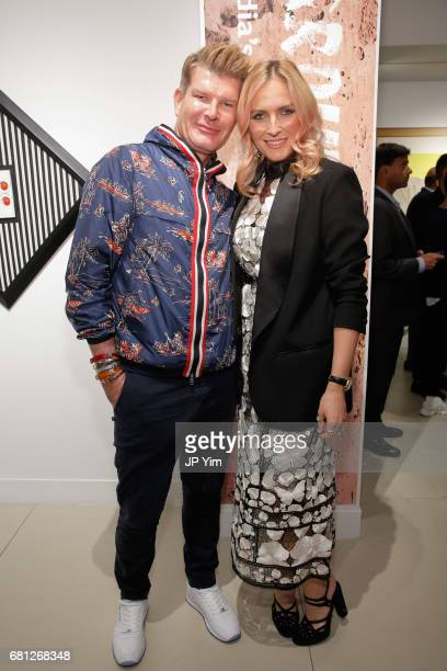 Edward O'Sullivan and Keren Craig attend 'A Magic Bus Cocktail Party' at DAG Modern on May 9 2017 in New York City