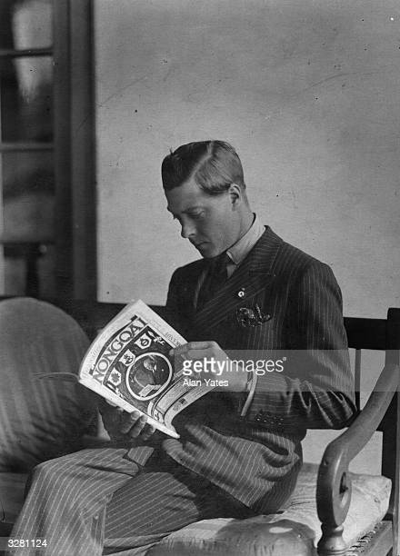 Edward Prince of Wales on tour in the Union of South Africa reading the magazine 'Nongoa'