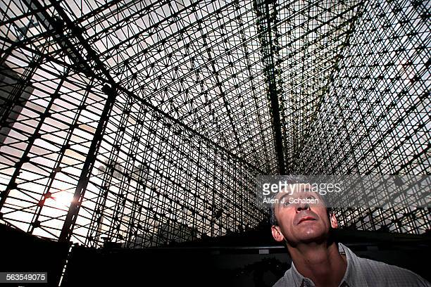 Edward Quiroga, head rigger at the Crystal Cathedral in Garden Grove, oversees a crew that washes and seals every windows at Crystal Cathedral. There...