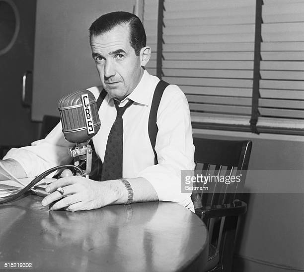 Edward R Murrow defends his attack on Senator Josephy R McCarthy which took place on his television show See It Now He accused McCarthy of using...