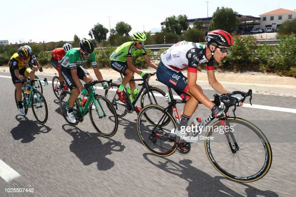Edward Ravasi of Italy and UAE Team Emirates / Oscar Rodriguez of Spain and Team Euskadi Murias / Alex Aranburu of Spain and Team Caja Rural Seguros...