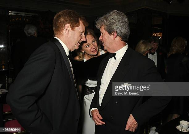 Edward Stanley Earl of Derby Caroline Stanley Countess of Derby and Guy Sangster attend the 25th Cartier Racing Awards at The Dorchester on November...
