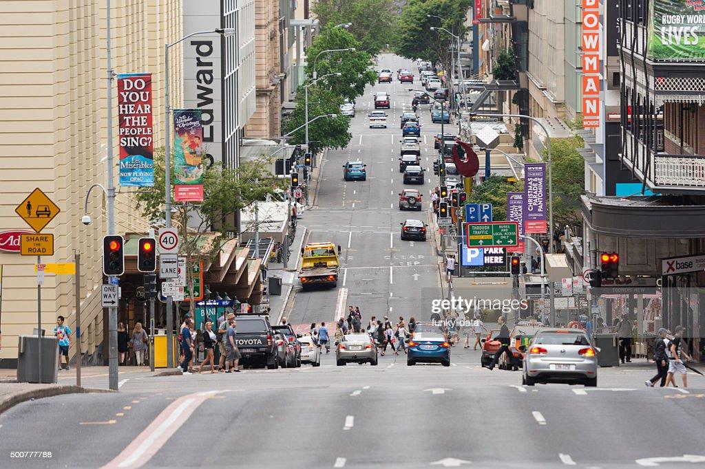 Edward Street in Brisbane : Stock Photo