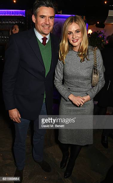 Edward Taylor and Donna Air attends the launch of Bunga Bunga in Covent Garden on January 12 2017 in London England