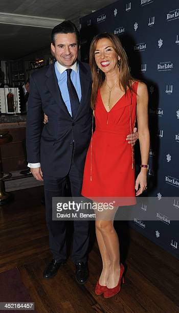 Edward Taylor and Heather Kerzner attends a drinks reception hosted by Ben Fogle and Bernie Shrosbree to celebrate Johnnie Walker Blue Label Alfred...