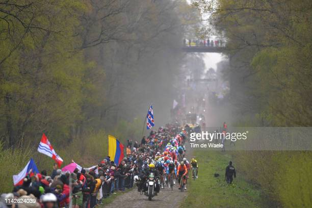 Edward Theuns of Belgium and Trek-Segafredo / Greg Van Avermaet of Belgium and CCC Team / Stijn Vandenbergh of Belgium and Team AG2R La Mondiale /...