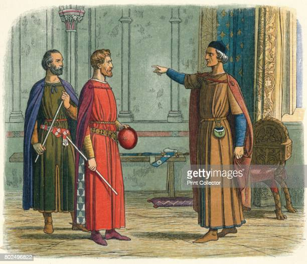 Edward threatens the Lord Marshal' 1864 King Edward I threatens the Lord Marshal Roger Bigod 5th Earl of Norfolkwho had drawn up a series of...