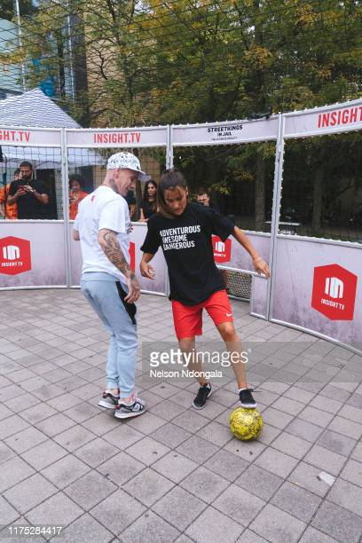 """Edward van Gils and Aylin Raren perform during the launch event for Insight TV's new show """"Streetkings in Jail"""" on September 17, 2019 in Munich,..."""