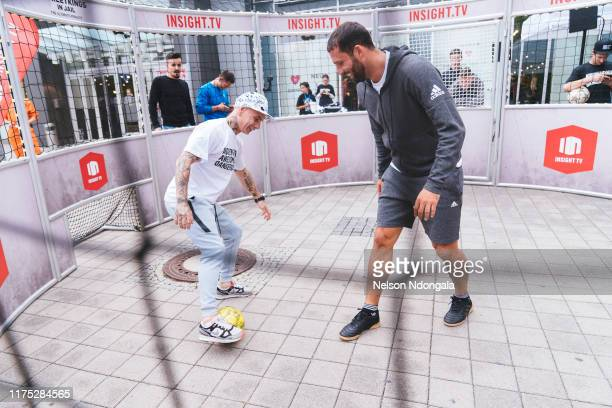 """Edward van Gils and Kevin Kuranyi perform during the launch event for Insight TV's new show """"Streetkings in Jail"""" on September 17, 2019 in Munich,..."""