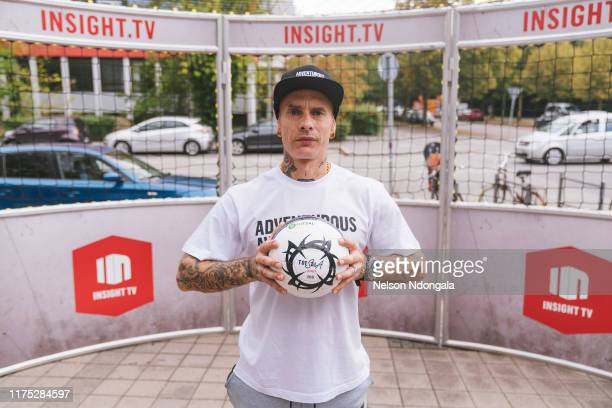 """Edward van Gils poses for a picture during the launch event for Insight TV's new show """"Streetkings in Jail"""" on September 17, 2019 in Munich, Germany."""