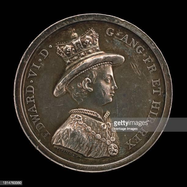 Edward VI, 1537-1553, King of England 1547 [obv], awarded 1846. Artist Lewis Pingo.