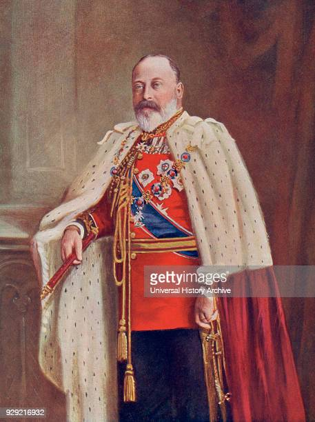 Edward VII 1841 – 1910 King of the United Kingdom and the British Dominions and Emperor of India From The Century Edition of Cassell's History of...
