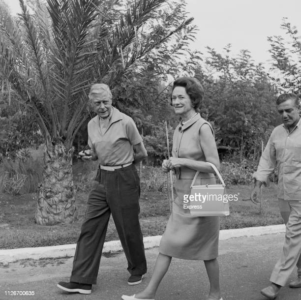 Edward VIII Duke of Windsor and her wife American socialite Wallis Simpson Duchess of Windsor on holiday in Spain 24th September 1963