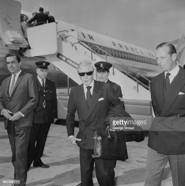 Edward VIII, Duke of Windsor is met by Prince Edward, Duke of Kent, at Heathrow Airport, London, UK, 30th June 1968. He was in London to attend the...