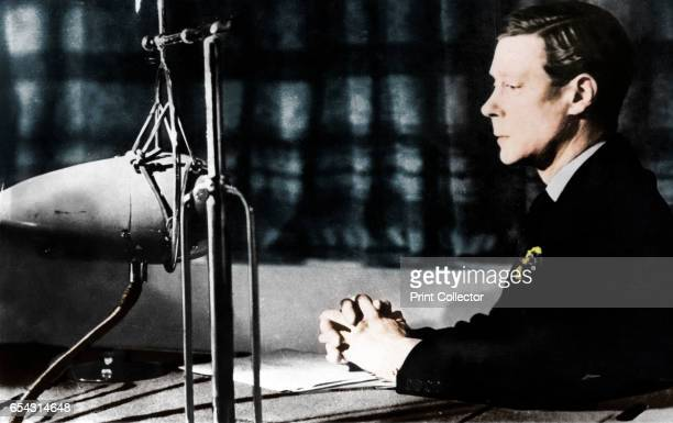 Edward VIII giving his abdication broadcast to the nation and the Empire 11th December 1936 Edward abdicated in order to marry Wallis Simpson an...