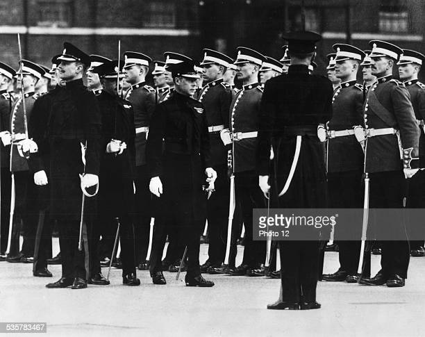 Edward VIII inspecting the Goldstream Guards April 25 1936