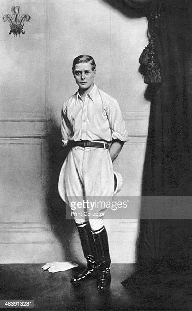 Edward VIII , King of Great Britain and Ireland. Edward, seen here when Prince of Wales, succeeded his father George V to the throne in 1936. He...