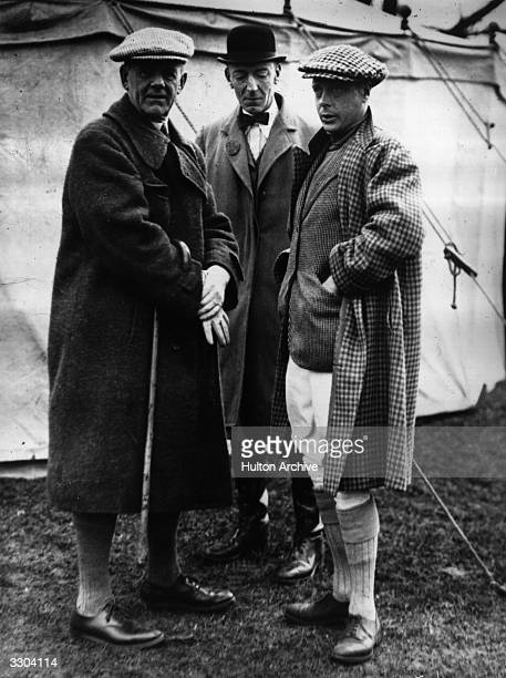 Edward VIII King of Great Britain with Admiral Sir Lionel Halsey at the Brigade of Guards pointtopoint meeting at Riseley Bedfordshire 21st March 1928