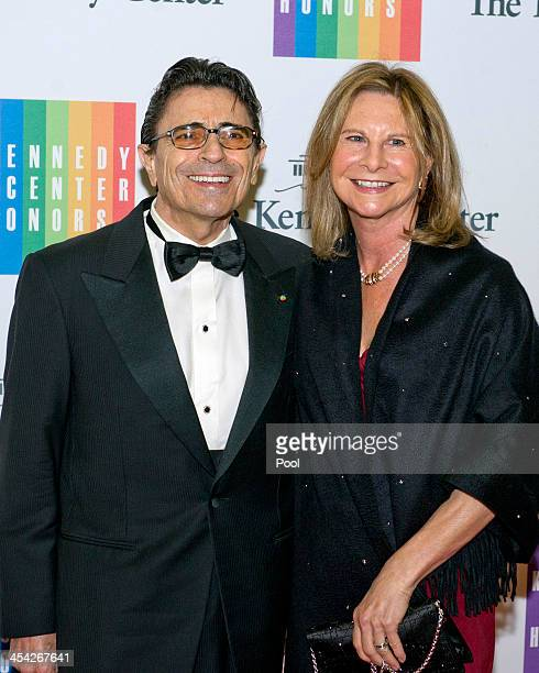 Edward Villella and his wife Linda Carbonetto arrive for the formal Artist's Dinner honoring the recipients of the 2013 Kennedy Center Honors hosted...