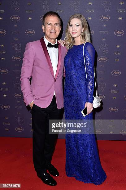 Edward Walson and Anastasia Fetisova arrive at the Opening Gala Dinner during The 69th Annual Cannes Film Festival on May 11 2016 in Cannes France