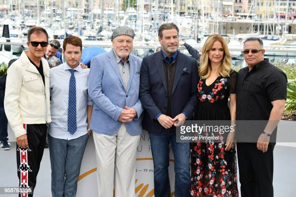 Edward Walsondirector Kevin Connolly Stacy Keach John Travolta Kelly Preston attend the photocall for 'Rendezvous With John Travolta Gotti' during...