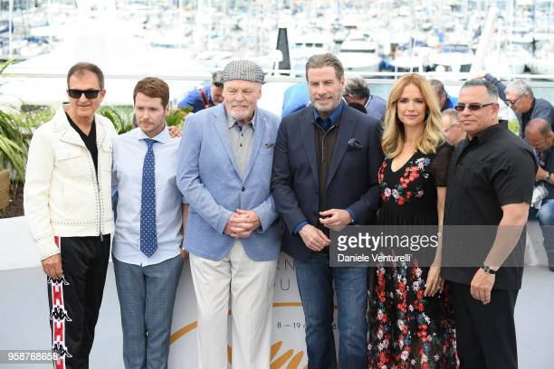 Edward Walsondirector Kevin Connolly Stacy Keach John Travolta Kelly Preston attend the photocall for the Rendezvous With John Travolta Gotti during...