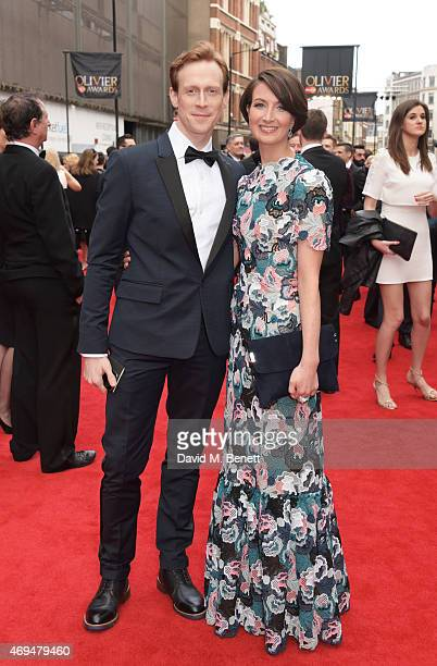 Edward Watson and Lauren Cuthbertson attend The Olivier Awards at The Royal Opera House on April 12 2015 in London England