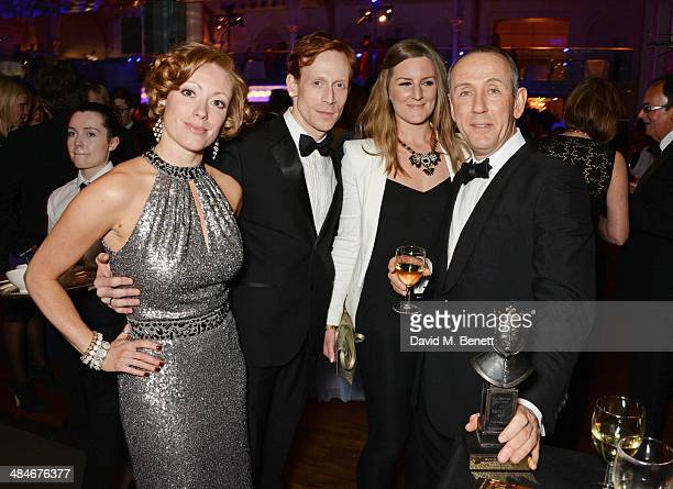 Edward Watson and Nicholas Hytner attend an after party following the Laurence Olivier Awards at The Royal Opera House on April 13 2014 in London...