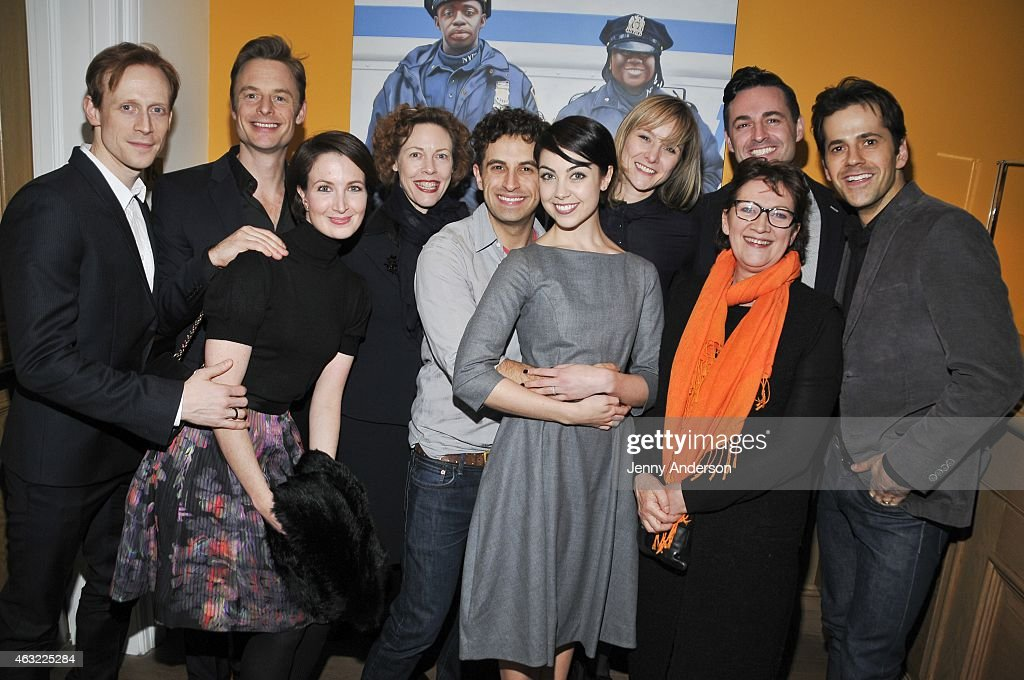 Edward Watson, Christopher Wheeldon, Lauren Cuthbertson, Veanne Cox, Brandon Uranowitz, Leanne Cope, Jill Paice, Max von Essen and Robert Fairchild attend The Royal Ballet's 'The Winter Tale' preview reception at Crosby Street Hotel on February 11, 2015 in New York City.