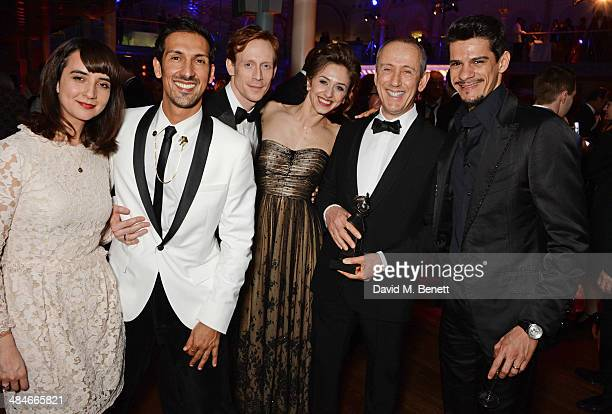 Edward Watson Marianela Nunez SIr Nicholas Hytner Thiago Soares and guests attend an after party following the Laurence Olivier Awards at The Royal...