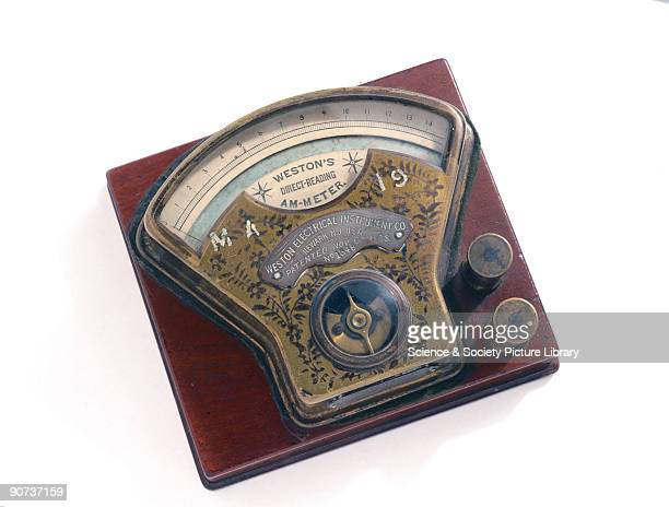 Edward Weston introduced this type of meter in 1889 It was the first pivoted moving coil meter and the first thoroughly reliable directreading meter...