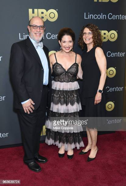 Edward Zuckerberg Randi Zuckerberg and Karen Zuckerberg attend Lincoln Center's American Songbook Gala at Alice Tully Hall on May 29 2018 in New York...