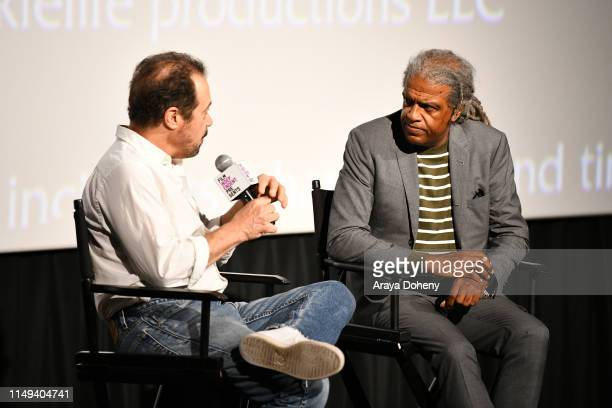 Edward Zwick and Elvis Mitchell at Film Independent presents special screening of Trial By Fire at ArcLight Santa Monica on May 15 2019 in Santa...