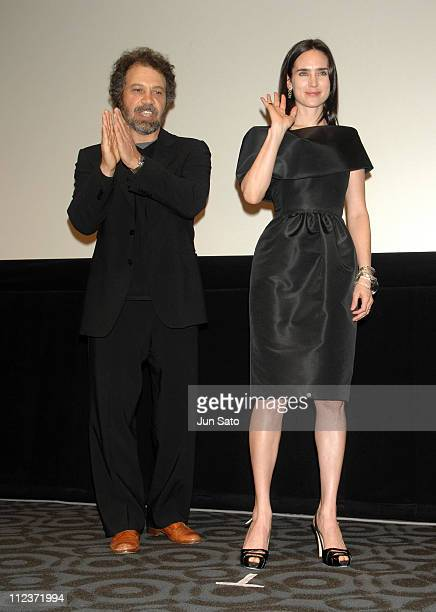 Edward Zwick and Jennifer Connelly during 'Blood Diamond' Tokyo Premiere Stage Greeting at Virgin Toho Cinemas Roppongi Hills in Tokyo Japan