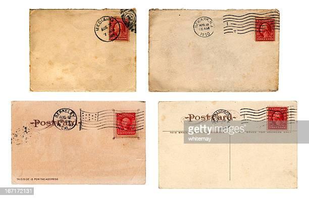 eduardiano era us mail-envelopes e cartões postais - marca postal - fotografias e filmes do acervo