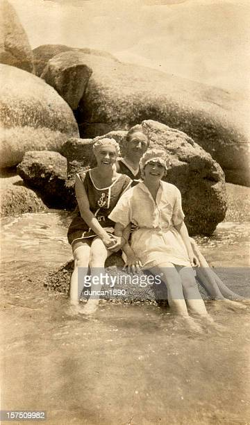 Edwardian Family on Holiday at the Beach