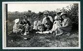 Edwardian Family Picnic Vintage Photograph