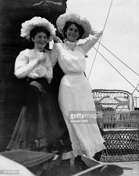 edwardian girls old photograph - history stock pictures, royalty-free photos & images