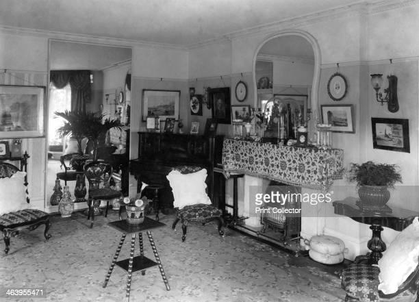 Edwardian living room, 1909.