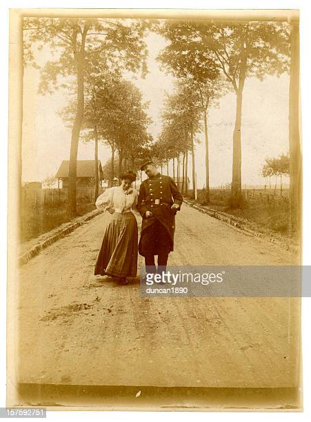 edwardian sweethearts - historical romance stock photos and pictures