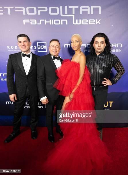 Edwardo Khawam Paul Jaramillo Shelli Bradley and Van Kimmel attend Metropolitan Fashion Week's Closing Gala And Fashion Awards at Los Angeles City...