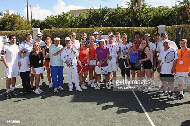 Edwardo Vetastegui Sean Wolfington Kim Clijsters host Tony Bennett Alejandro Sanz Caroline Wozniacki Novac Djokovic Ana Ivanovic and guests attend...