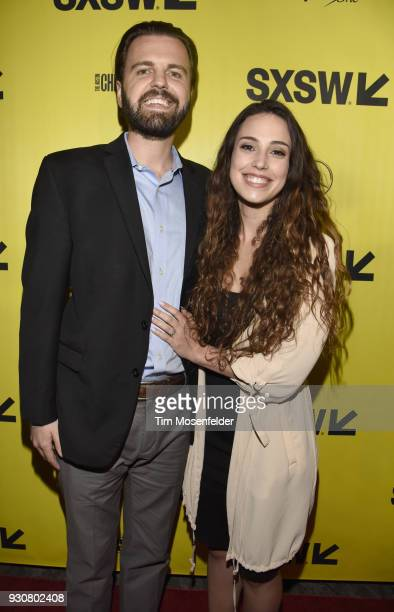 J Edwards and wife attend the premiere of Friday's Child at the Paramount Theatre on March 11 2018 in Austin Texas