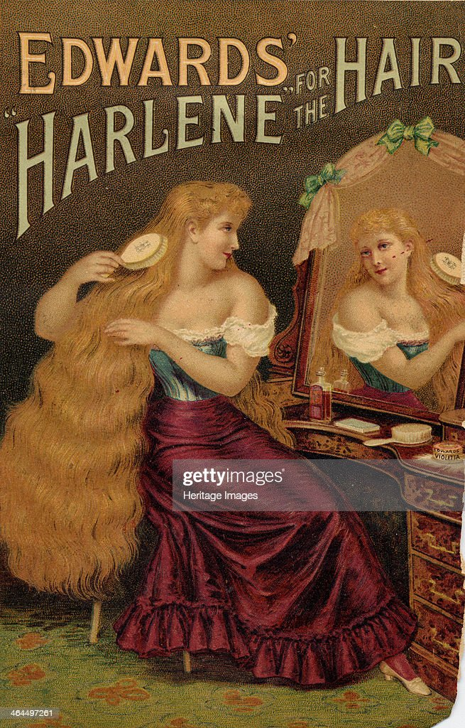 Edward?s Harlene For The Hair, 1900. : News Photo
