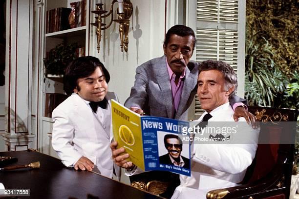 ISLAND Edward/The Extraordinary Miss Jones Season Six 4/9/83 Ricardo Montalban guest star Sammy Davis Jr and Hervé Villechaize star in Fantasy Island...