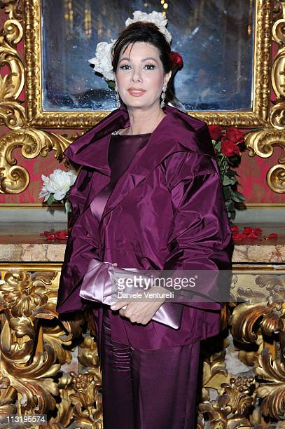Edwige Fenech attends the Gala Dinner Il Faro Charity Event on May 27 2010 in Rome Italy